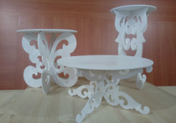 Decorative Tables 3D Puzzle Free Vector Cdr