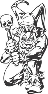 Bad Guy, Evil Clown vector art Free Vector Cdr