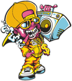 Devil Vector Carrying A Tape Recorder Free Vector Cdr