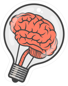Brain Bulb Sticker Free Vector Cdr