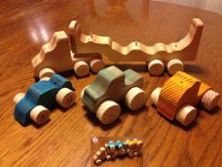 Wooden Toy Hauler Free Vector Cdr