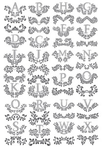Floral Letters Free Vector Cdr