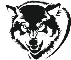 Mens wolf shirt Free Vector Cdr