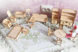 Doll Furniture Laser Cut 3D Puzzle Free Vector Cdr