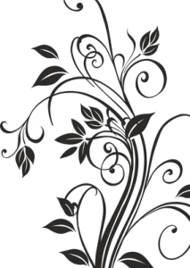 Floral Silhouettes Vector Art Free Vector Cdr