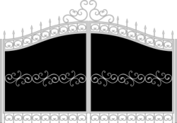 Forged gates sketch vector Free Vector Cdr
