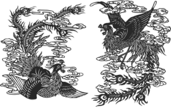 Ancient chinese phoenix Free Vector Cdr