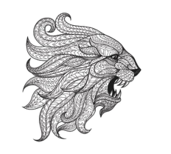 Totem Animal Lion Vector Art Free Vector Cdr