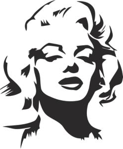 Marilyn Monroe Stencil Vector Free Vector Cdr