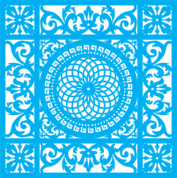 Seamless blue damask pattern Free Vector Cdr
