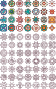 Ornament beautiful card with mandala Free Vector Cdr