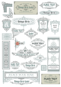 Vintage Decor Frames Free Vector Cdr