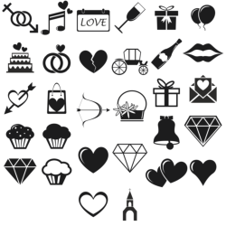 Love Icons vector set Free Vector Cdr