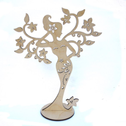 Woman Jewelry Stand Laser Cut Free Vector Cdr