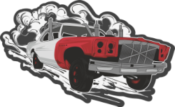Hotrod Car Sticker Free Vector Cdr