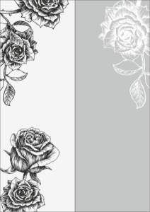 Rose Sandblast Pattern Free Vector Cdr