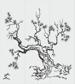 Tree Sandblasting Stencil Free Vector Cdr