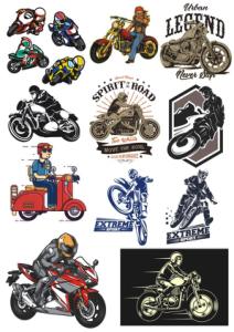Motorcycle Chopper Racer Vinyl Sticker Decals Free Vector Cdr