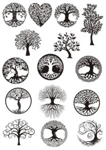 Vector ornament, decorative Celtic tree of life Free Vector Cdr