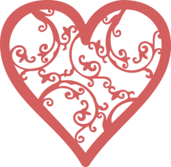 Filigree Heart Free Vector Cdr