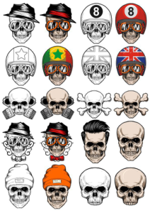 Vectors Skull In Cap Free Vector Cdr