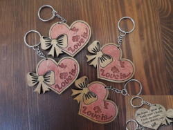 Keychains For Your Loved Ones Lasercut Free Vector Cdr