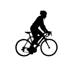 Cycle Silhouette Vector Free Vector Cdr