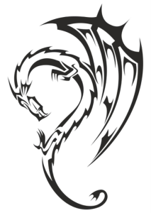 Dragon Tribal Tattoo Vector Free Vector Cdr
