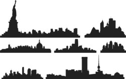 City Skylines Vector Free Vector Cdr