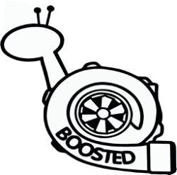 Boosted Snail Sticker Vinyl Decal vector Free Vector Cdr