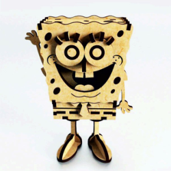 SpongeBob Laser Cut Free Vector Cdr