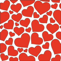 Hearts seamless pattern clipart vector Free Vector Cdr