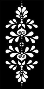Flower Pattern Stencil Vector Free Vector Cdr