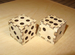 Laser Cut Dice 3D Puzzle Free Vector Cdr