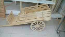 Laser-Cut Carriage Wooden Toy Free Vector Cdr