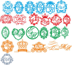 Wedding Monogram Vector Set Free Vector Cdr
