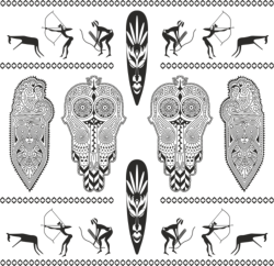 Africa Totem Vector Set Free Vector Cdr