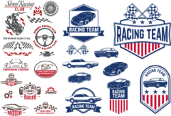 Car Decals Racing Free Vector Cdr