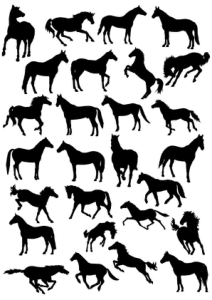 Horses Silhouette Vector Pack Free Vector Cdr
