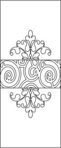 Floral Door Design Vector Free Vector Cdr