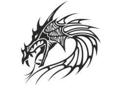 Chinese Dragon Head Tattoo Vector Free Vector Cdr