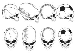 Sport Skulls Vector Pack Free Vector Cdr