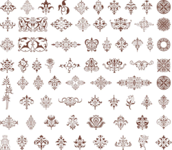 Ornamental design element vectors Free Vector Cdr
