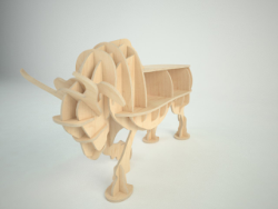 Bull New 3d puzzle Free Vector Cdr