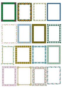 Floral Frame Border Set Free Vector Cdr