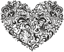 Ornament Heart Free Vector Cdr