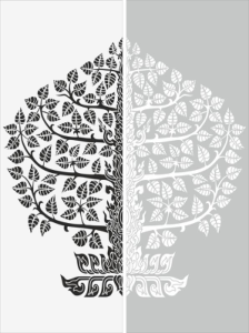 Floral Sandblast Pattern Free Vector Cdr