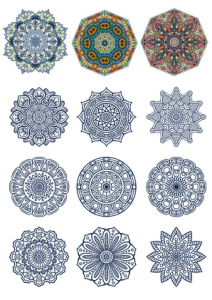 Decorative Ornamental Design Vector Set Free Vector Cdr