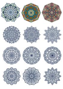 Decorative Ornamental Design Vector Set Free Vector Cdr