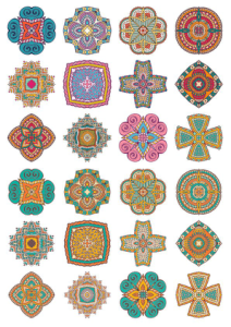 Set of Round Ornaments Mandala Vectors Free Vector Cdr